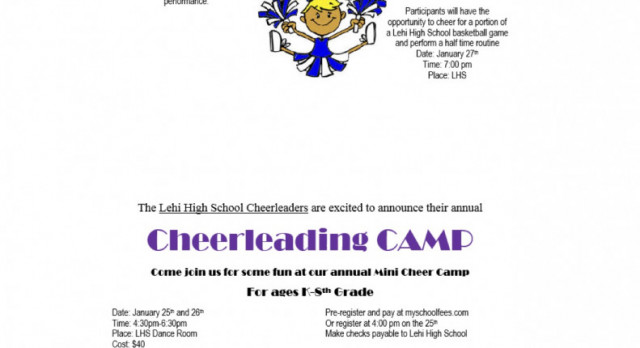 Lehi Cheerleading Camp