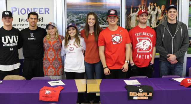 Signing Day for Lehi Athletes