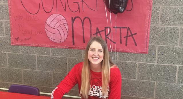 Marta Ellsworth signs with Colorado Northwestern