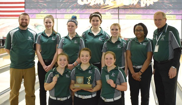 LO girls' varsity bowling team claims second Oakland County title in a row