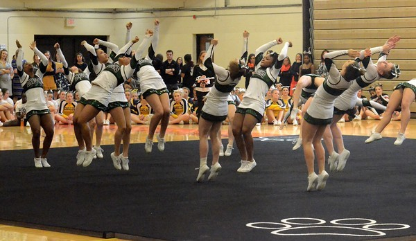 Dragon competitive cheer squad qualifies for state finals!