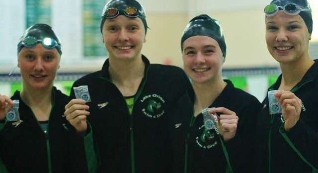 Lady Dragon swim and dive team finishes in fourth place at OAA Red championships