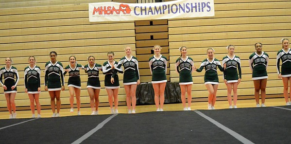 Lake Orion Community High School Girls Varsity Competitive Cheer finishes 4th place