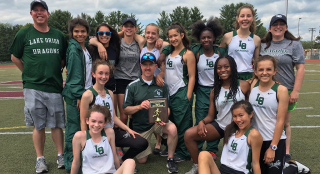 Girls Track Wins Freshmen Oakland County Meet