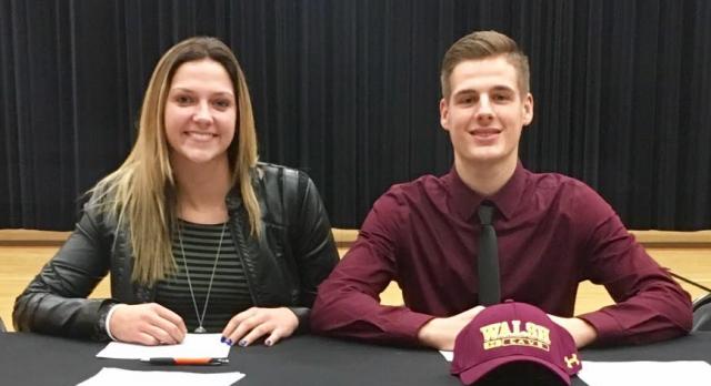 Sara Price and Michael Massucci sign NLI