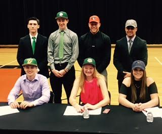 Seven Senior-Athletes Sign NLI/Celebratory Letters on April 12, 2017