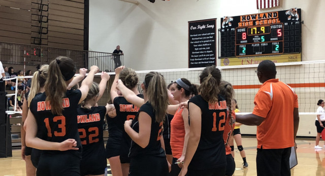 Howland Volleyball (11-4) defeats Crestview (13-3) in 5 sets