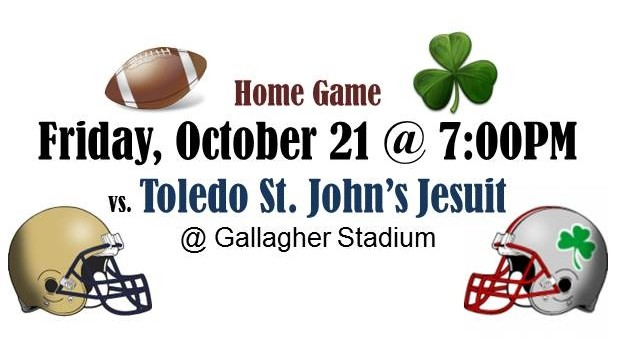 The Fighting Irish football team takes on St. John's this Friday, Oct. 21 at Gallagher Stadium
