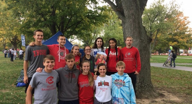Fighting Irish Cross Country at Regional's this past weekend! #GoIrish