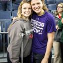 Photos of the Lady Irish Basketball team watching Byrdy Galernik of Northwestern play at Michigan #GoIrish