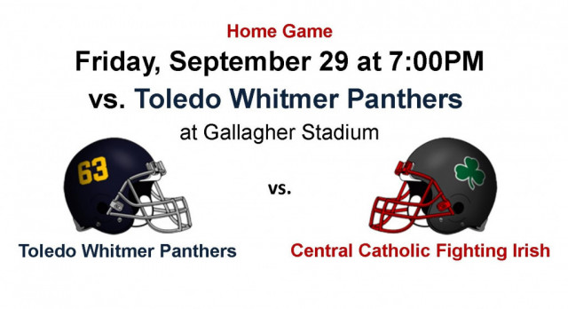 Get Your Tickets Early – Huge TRAC home game this Friday, Sept 29 vs Whitmer – Cheer on the Fighting Irish #GoFarGoIrish