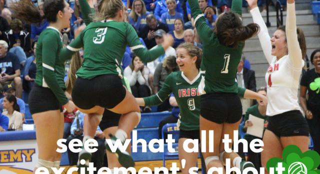 The Lady Irish Volleyball Team have a huge home game vs NDA this Thursday #GoFarGoIrish