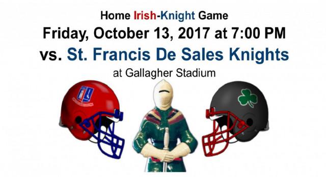 Home Irish-Knight Game this Friday, October 13 at 7PM, Irish try to make it 14 in a row! #GoFarGoIrish