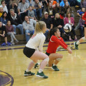 Photos of the Lady Irish Volleyball loss in the Regional Semifinals to a tough Lexington team, 3 sets to 1 #GoFarGoIrish
