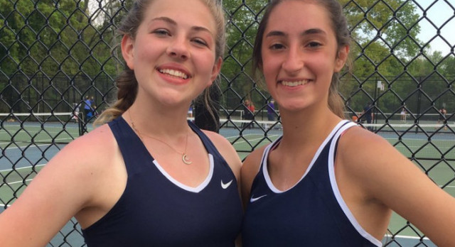 Doubles Team Wins Catholic League Title!