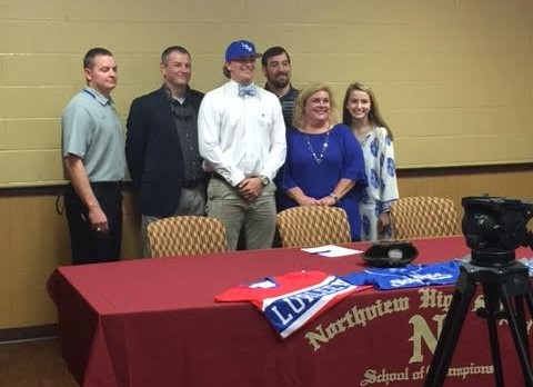 NHS All State Pitcher Signs with LBW