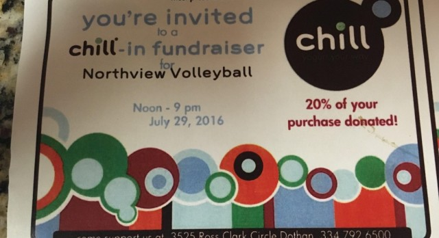 Support Volleyball's Fundraiser At Chill Yogurt This Friday