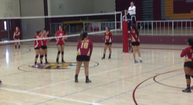 Colton High School Girls Varsity Volleyball beat Chaffey High School 3-2