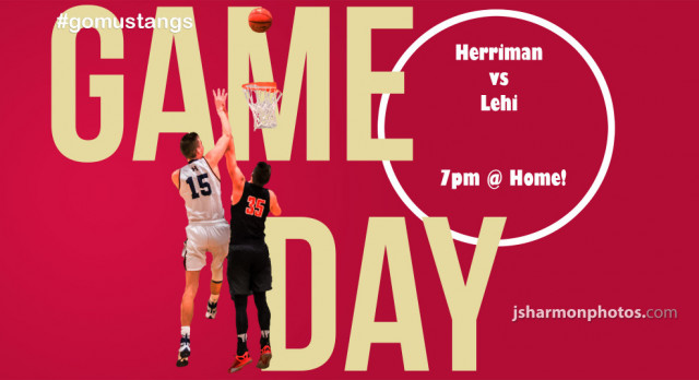 Boys Basketball today at Herriman High School against Lehi