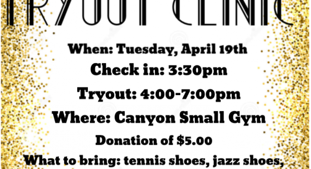 SONG TRYOUT CLINIC!