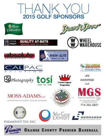 golf tourny sponsors