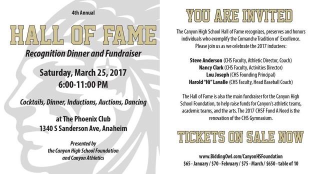 YOU ARE INVITED TO THE HALL OF FAME!