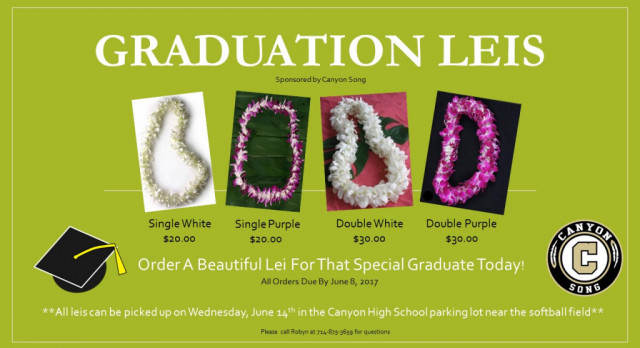 Order your graduation leis today!