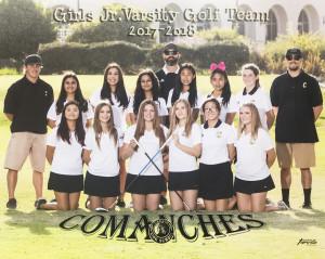 Girls Golf JV Team Picture 2017