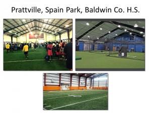 Indoor facilities of similar sized schools in Alabama.
