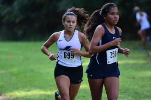 Liz Holcomb 4th overall Varsity Race