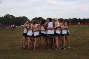 Girls team getting ready to fly