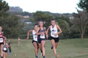 Liz Holcomb ALL METRO & Jenna Shereyk ALL METRO Varsity Team work