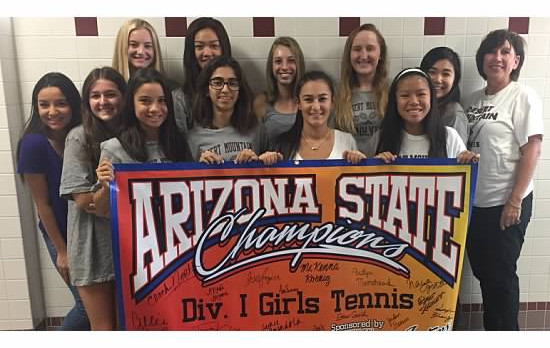Girls Tennis Crowned State Champs