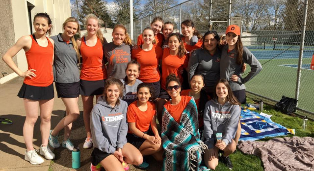 Sprague High School Girls Varsity Tennis beat North Salem High School 5-0