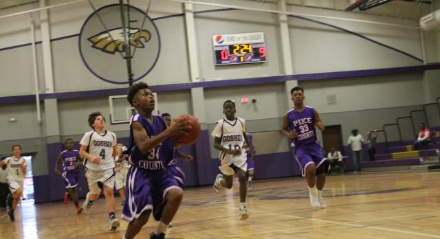 Pike County High School Boys Junior Varsity Basketball beat Goshen High School 43-11