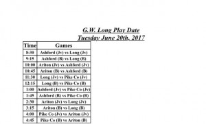 GW Long Play Dates