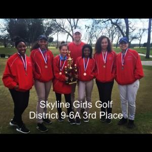 Golf Girls District 3rd Plance 15-16
