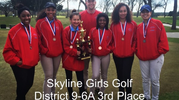Golf Girls District 3rd Plance 15-16
