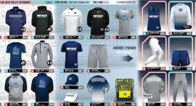 Deer Valley Skyhawks Nike and Under Armour Gear Available Through DV Cross Country
