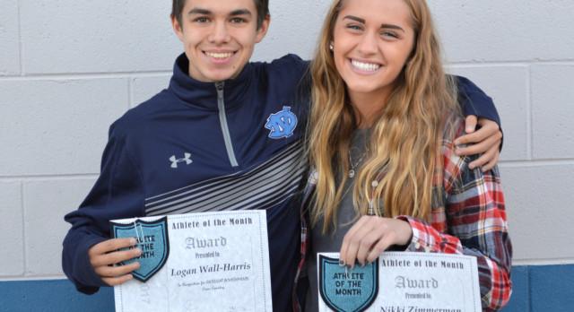Congratulations November Athletes of the Month: Logan Wall-Harris and Nikki Zimmerman!!