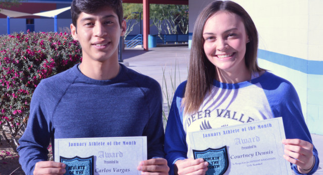 Carlos Vargas & Courtney Dennis – January Athletes of the Month