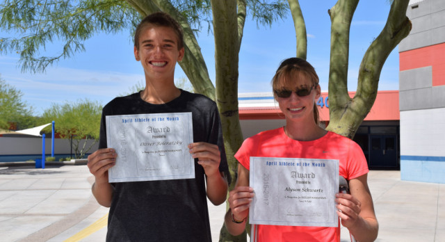 Congratulations April Athletes of the Month!