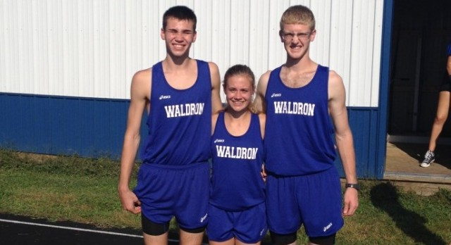 Waldron High School Girls Varsity Cross Country scores 0 points at meet