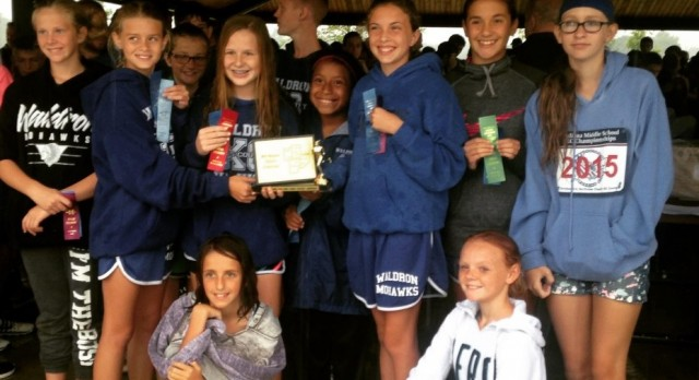 Waldron Jr. High Girls Cross Country Wins MHC