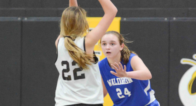 Waldron 7th Grade Girls Basketball Falls to Morristown in County Championship