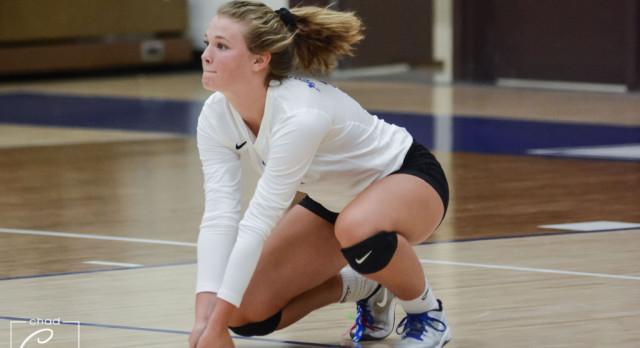 Waldron High School Girls Varsity Volleyball falls to Trinity Lutheran High School 3-0