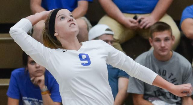 Waldron High School Girls Varsity Volleyball falls to Indian Creek High School 3-0