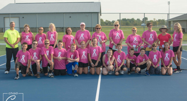 Waldron Coed Middle School Tennis ties Morristown High School 3-3