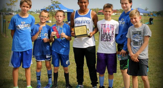 Waldron Boys Middle School Cross Country finishes 1st place