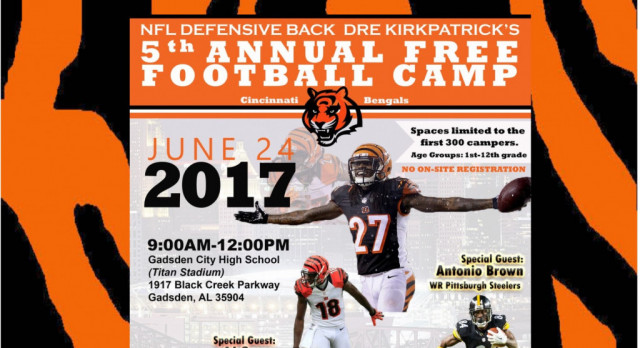 Dre Kirkpatrick's 5th Annual FREE Football Camp!